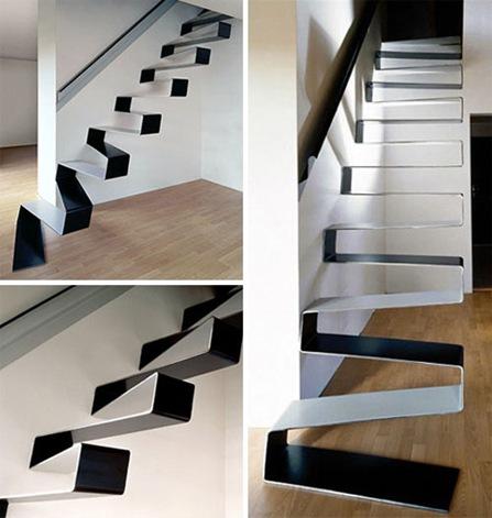 20 hermosas y modernas escaleras interiores for Imagenes escaleras modernas