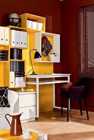 compact-home-office-in-a-living-room