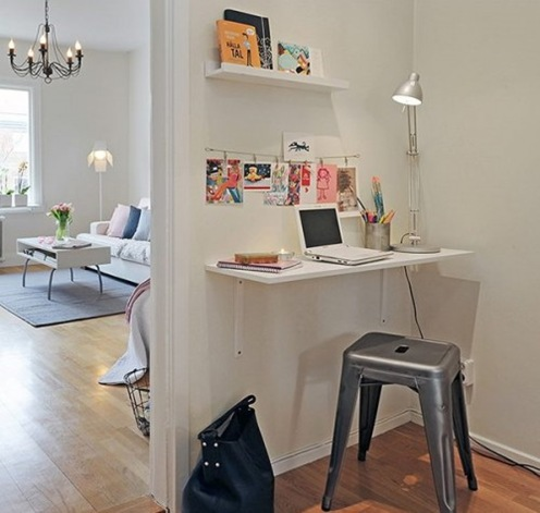 home-office-in-a-hallway