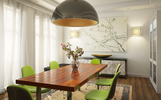 6-green-white-dining-room-wooden-table-665x414