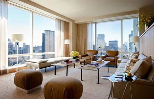 Apartamentos de colores suaves en nueva york central park for Colores para apartamentos modernos