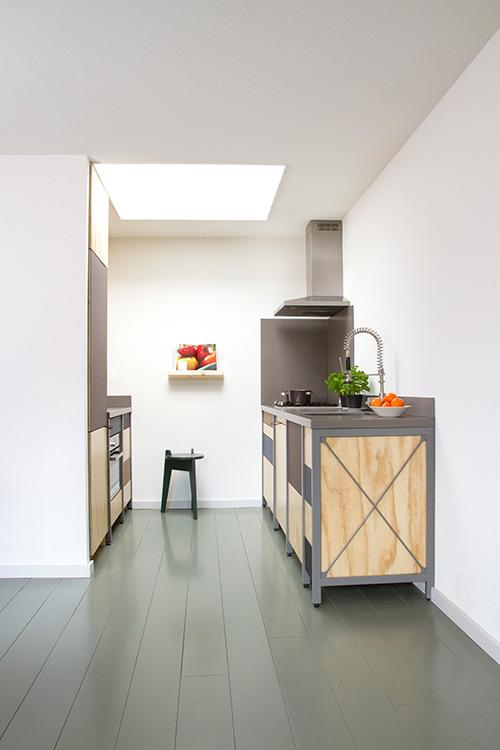 Cocina para casas peque as con un toque industrial for Cocinas pequenas para casas pequenas