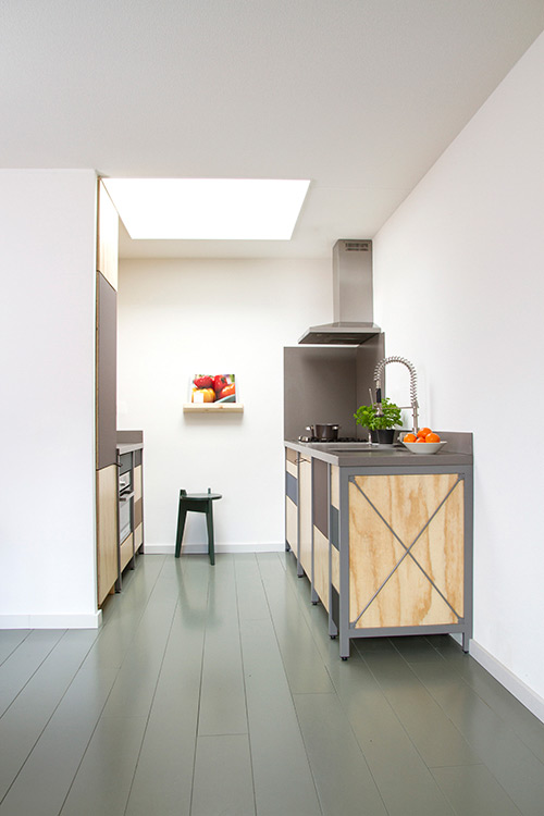 Cocina para casas peque as con un toque industrial for Cocinas de casas pequenas