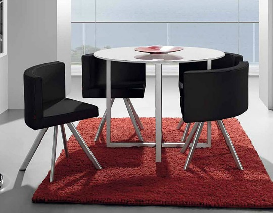 Mesa comedor ideal para departamentos peque os interiores for Mesas para comedores pequea os