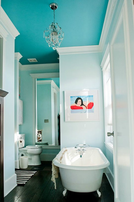 painting bathroom ceiling same color as walls ideas para llenar de color el techo interior de tu casa 26258