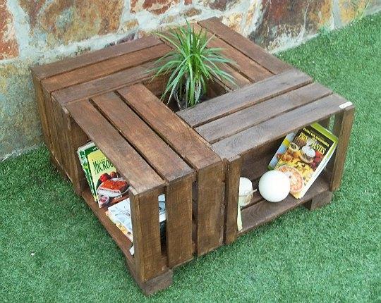 Muebles realizados con palets by adri n rabasco interiores for Muebles de jardin con palets reciclados