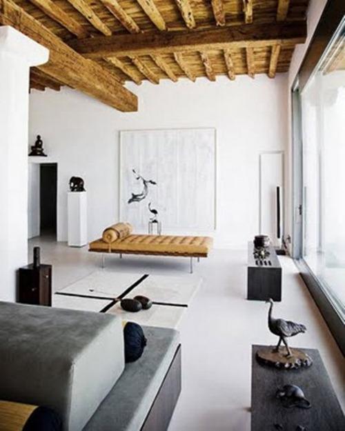 Casa minimalista en blanco gris y negro interiores for Casa minimalista en