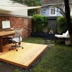 escritorio de trabajo en exteriores
