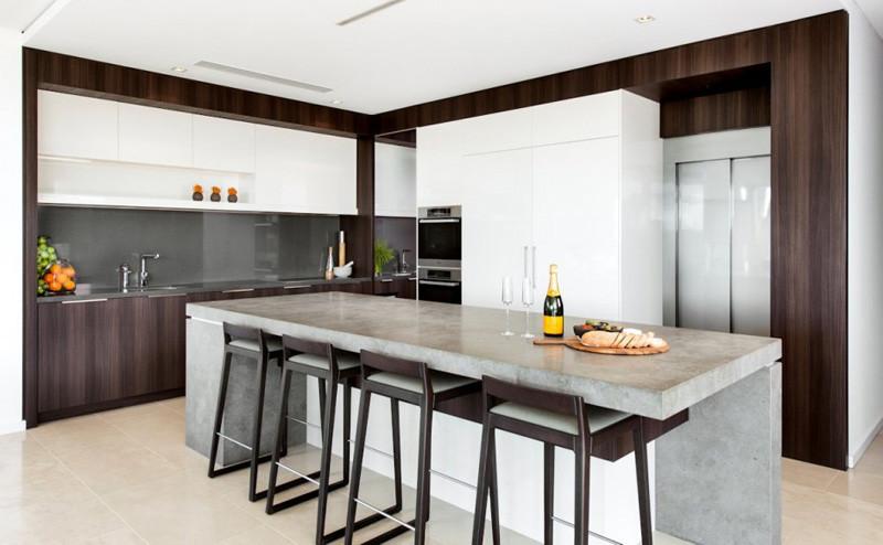 15 ejemplos de inspiración de cocinas con encimeras de concreto ...