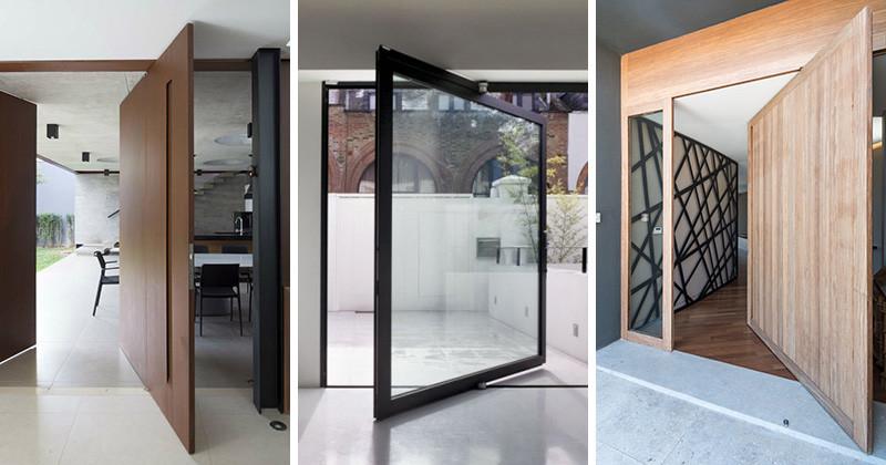 10 Ejemplos De Puertas Modernas Pivoteantes Interiores