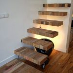 21 ideas escaleras de madera 20