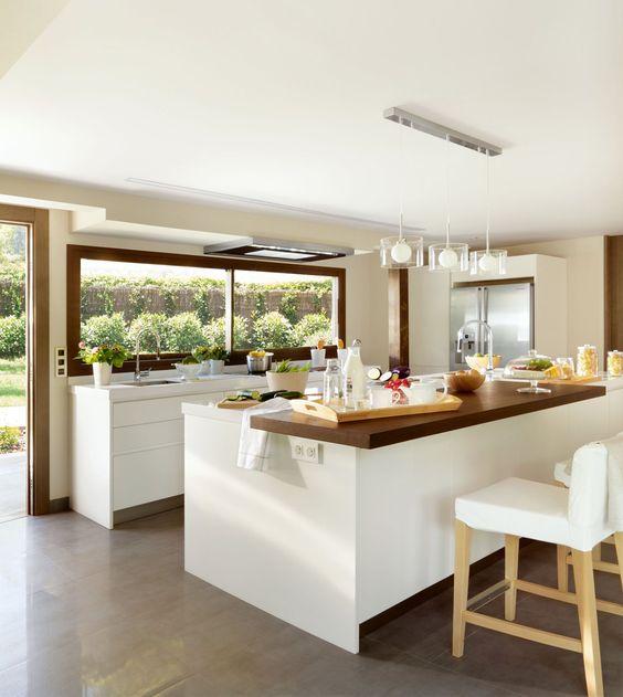 25 dise os de cocinas abiertas ideales para tu hogar for Diseno de cocinas abiertas al salon