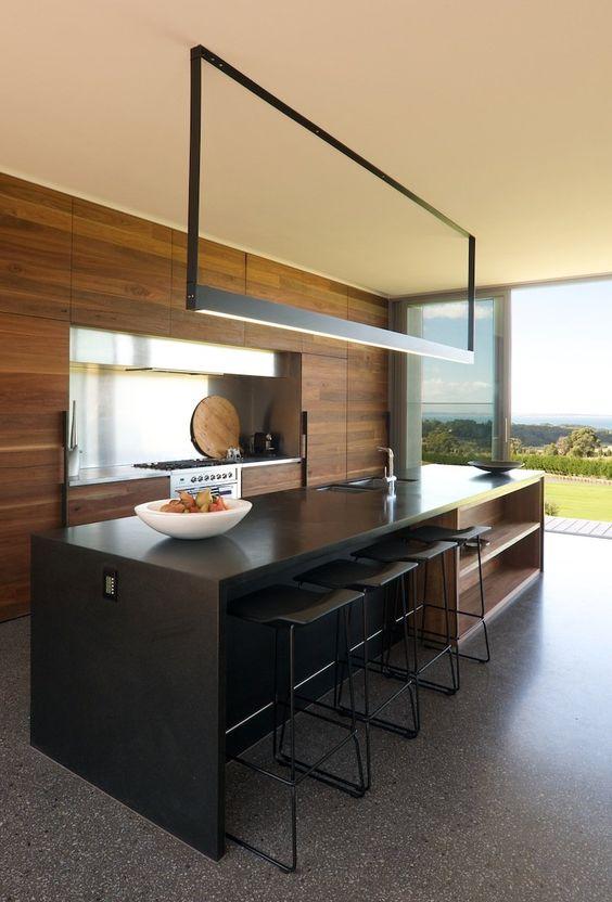 25 dise os de cocinas abiertas ideales para tu hogar - Diseno interiores cocinas ...