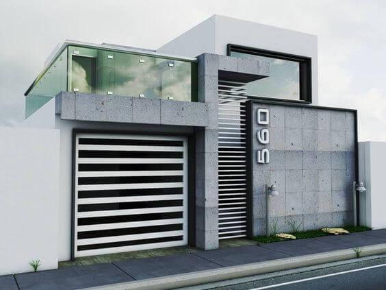 30 fachadas modernas y minimalistas que sin duda destacarían a tu casa de la de tus vecinos 01