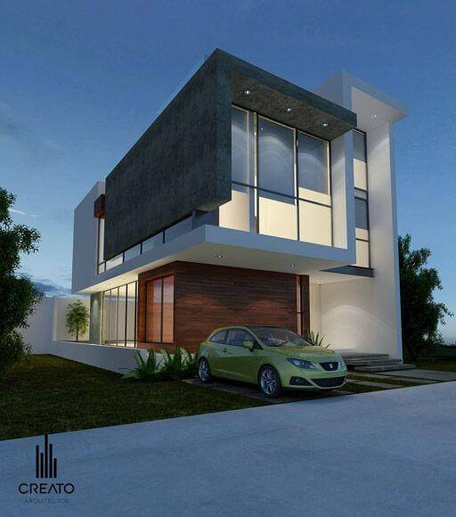 30 fachadas modernas y minimalistas que sin duda for Casa minimalista 90m2