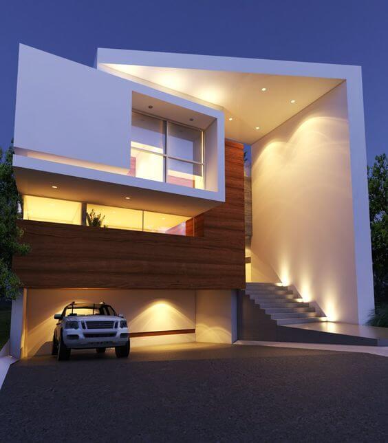 30 fachadas modernas y minimalistas que sin duda for Fachadas para apartamentos pequenos