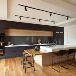 cocina en Madera y en Color Negro 03