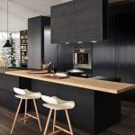 cocina en Madera y en Color Negro 05