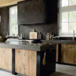 cocina en Madera y en Color Negro 06