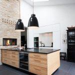 cocina en Madera y en Color Negro 12