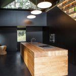 cocina en Madera y en Color Negro 15