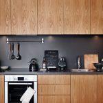 cocina en Madera y en Color Negro 17
