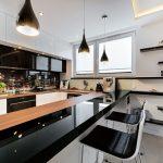 cocina en Madera y en Color Negro 20
