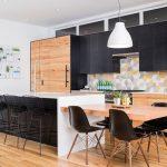 cocina en Madera y en Color Negro 22