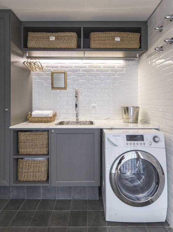36 ideas para decorar y organizar tu cuarto de lavado | Interiores