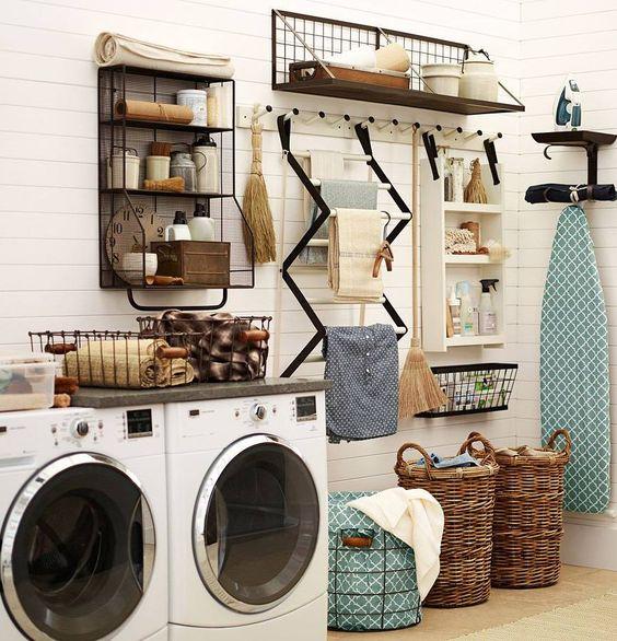 36 ideas para decorar y organizar tu cuarto de lavado for Ideas para organizar tu cuarto