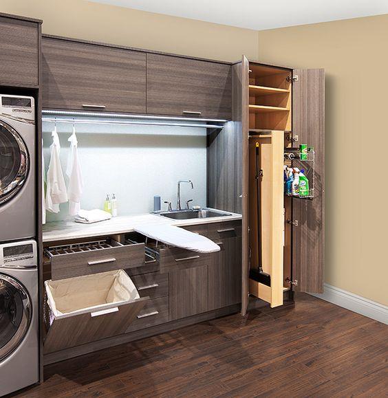 36 ideas para decorar y organizar tu cuarto de lavado - 01