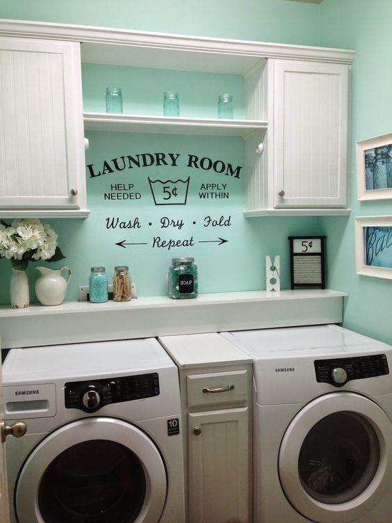 36 ideas para decorar y organizar tu cuarto de lavado - 24 | Interiores