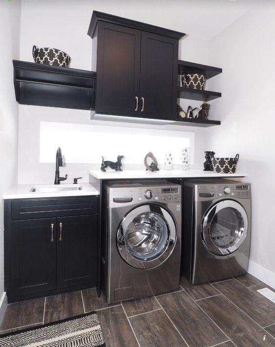 36 ideas para decorar y organizar tu cuarto de lavado - 32 | Interiores