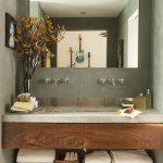 44 ideas para decorar y organizar baños pequeños (23)