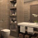 44 ideas para decorar y organizar baños pequeños (4)