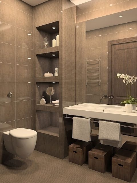 44 ideas para decorar y organizar ba os peque os interiores for Grado medio decoracion de interiores