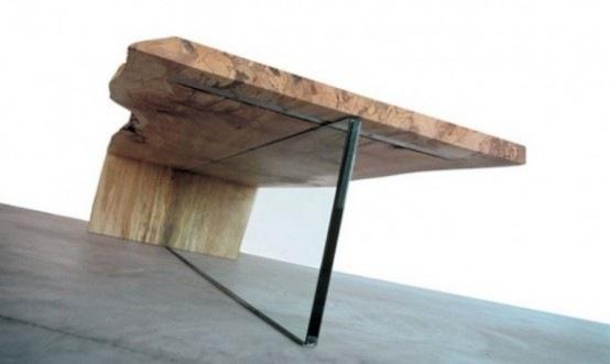Mesa de centro que combina la elegancia y la naturaleza a la perfección