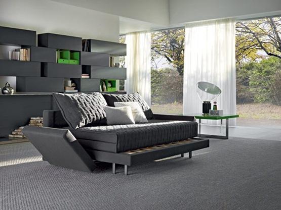 OZ Sofá – el practico Sofá que se convierte en cama minimalista