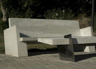 Sofá de Concreto y Mesa