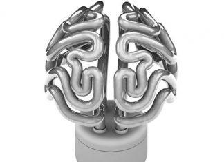 Bombilla en forma de Cerebro