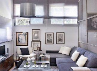 Decoración de pequeños espacios elegantes y confortables en color gris